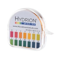 Papel Ph Hydrion (93) con dispensador y tabla de colores - Gama completa Insta Chek ph- 0-13